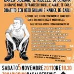 5 novembre 2011 a ZonaRischio la presentazione della graphic novel su Carlo Giuliani